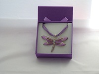 Lilac / Lavender Butterfly necklace
